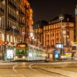 Modern tram on at Strasbourg city center. France, Alsace — Stock Photo #14684773