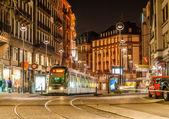Modern tram on at Strasbourg city center. France, Alsace — Stock Photo