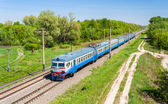 Suburban electric train in Kiev region, Ukraine — Stock Photo