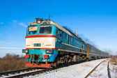 Diesel local train in Ukraine. — Stock Photo
