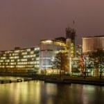 Cour européenne des droits de l'homme à strasbourg, alsace, france — Photo