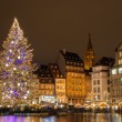 "Christmas tree at Place Kleber in Strasbourg, ""Capital of Christ — Stock Photo"