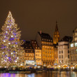 "Christmas tree at Place Kleber in Strasbourg, ""Capital of Christ — Stock Photo #16375315"