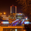 Night view of Odessa seaport. Ukraine — Stock Photo
