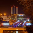 Night view of Odessa seaport. Ukraine — Stock Photo #17007507