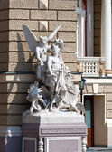 Sculptures at the Odessa Opera and Ballet Theater — Stock Photo