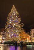 Christmas tree at Place Kleber in Strasbourg — Stock Photo
