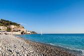 Mar mediterrâneo em francês - nice riviera — Fotografia Stock