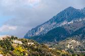 View of Ligurian Alps near Menton from the Mediterranean Sea - F — Stock Photo