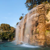 Waterfall in Parc de la Colline du Château - Nice, France — Stock Photo