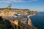 Port Lympia as seen from Colline du chateau - Nice - France — Stock Photo