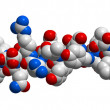 Hormone glucagon 3D molecular structure — Stock Photo