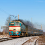 Diesel local train in Ukraine. — Stock Photo