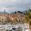 View of Menton city - French Riviera, France — Stock Photo