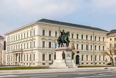 Statue of Ludwig I in front of Bavarian State Ministry of Financ — Stock Photo