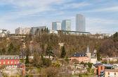卢森堡市欧洲机构建筑物的视图 — 图库照片
