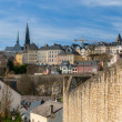 View of Luxembourg city - Luxembourg — Stock Photo