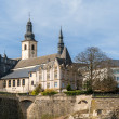 View of St Michael's Church in Luxembourg city — Stok fotoğraf