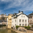 Luxembourg old city: Grund quarter and Alzette river — Stock Photo