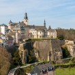 View of Luxembourg old town - Stock Photo