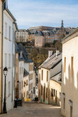 Steep street in Luxembourg city — Stockfoto