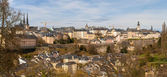 Panoramic view of Luxembourg city — Stock Photo