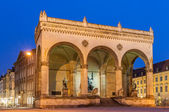 Feldherrnhalle at Odeonsplatz in Munich - Bavaria, Germany — Stock Photo