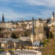 View of Luxembourg city - UNESCO World heritage site — Stock Photo