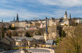 View of Luxembourg city - UNESCO World heritage site — 图库照片