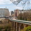 View of Passerelle viaduct in Luxembourg city — Stock Photo