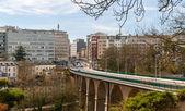 Vista del viadotto di passerelle in lussemburgo città — Foto Stock