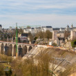 View of railway viaducts in Luxembourg city — Stock Photo #24987911