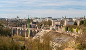 View of railway viaducts in Luxembourg city — Stock Photo