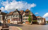 Alsatian style houses in Kintzheim, Alsace, France — Stock Photo