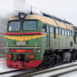 Russian diesel locomotive M62 on a blurred background — Stock Photo