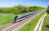 Modern hi-speed passenger train in Ukraine — Stock Photo