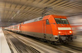German train in Munich station - Bavaria — Stock Photo