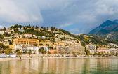 Vista da cidade de menton do mediterrâneo - frança — Fotografia Stock