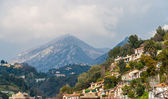 View of Ligurian Alps near Menton - French Riviera — Stock Photo