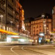 Modern tram on at Strasbourg city center. France, Alsace — Stock Photo