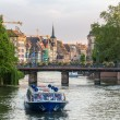 Evening at the Ill river in Strasbourg - Alsace, France — Stock Photo