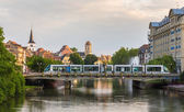 Tram at Gallia station in Strasbourg - Alsace, France — Stock Photo