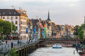 Embankment of the Ill river in Strasbourg - Alsace, France — Stock Photo