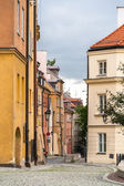 Narrow street in Warsaw old city - Poland — Stock Photo