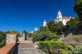 Ascent to Bratislava Castle - Slovakia — Stock Photo