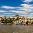 View of Charles Bridge and Prague Castle — Stock Photo