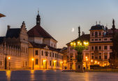 Hradcany Square in Prague - Czech Republic — Stock Photo