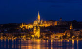 Fisherman Bastion in Budapest during 2013 summer flood — Stock Photo