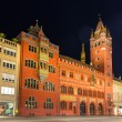 Basel Town Hall (Rathaus) at night - Switzerland — Stock Photo
