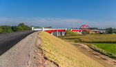 Construction of high-speed rail LGV Est near Strasbourg, France — Stockfoto